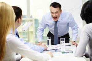 Screaming boss